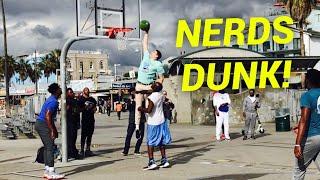 NERDS DUNK ON TRASH TALKING HOOPERS AT VENICE BEACH (Feat. Jesser & ZackTTG)