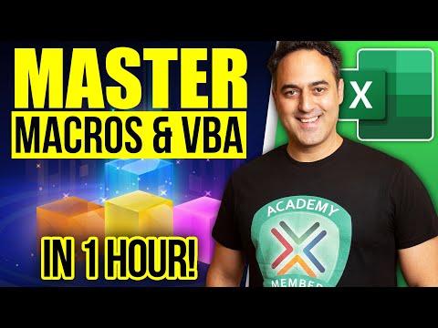 Master Excel MACROS & VBA in ONLY 1 HOUR! - YouTube