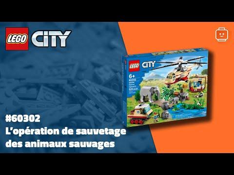 Vidéo LEGO City 60302 : L'opération de sauvetage des animaux sauvages