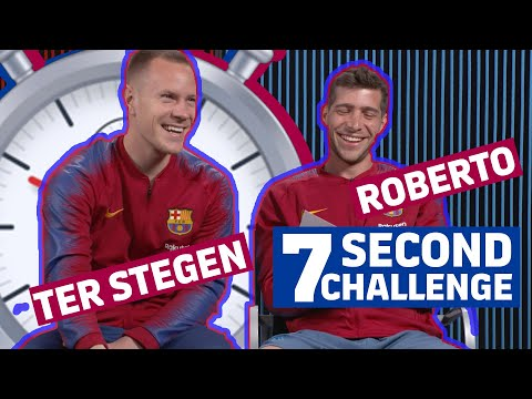 7 SECOND CHALLENGE | RAKUTEN CUP EDITION | Ter Stegen vs Roberto