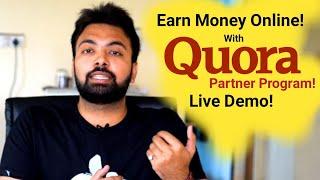 Quora Partner Program Live Demo Earnings & How to Apply