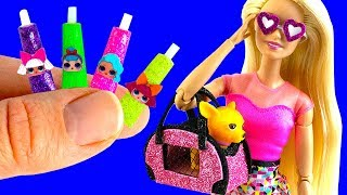 30 DIY Barbie, LOL Hacks and Crafts | Miniature Wedding Ring, Dog Bag, Lipsticks, and more!