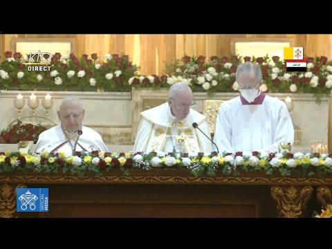 Messe du pape François en la cathédrale chaldéenne St-Joseph de Bagdad