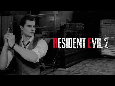 Resident Evil 2 - Leon Noir DLC Costume Gameplay de Resident Evil 2 (2019)