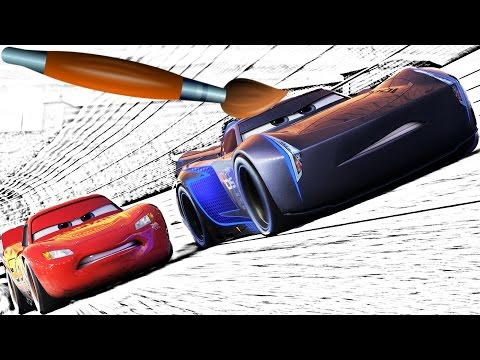 CARS Jackson Storm - Lightning McQueen coloring Book  - Pages Video For Kids Episode 10