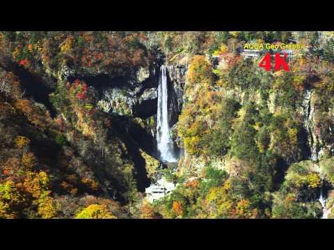 4K DEMO ULTRAHD AUTUMN STREAM 4K映像 紅葉 滝 渓流 (3840×2160)