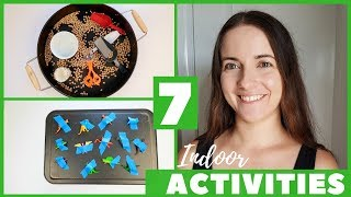 7 INDOOR PLAY IDEAS FOR 1-2 YEAR OLDS | TODDLER ACTIVITIES AT HOME | DIY MONTESSORI SHELF IDEAS