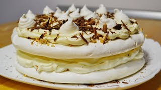 "Торт Безе с Кремом ""Пломбир"" (Швейцарская меренга) Cake with Merenga and Cream Plombir"