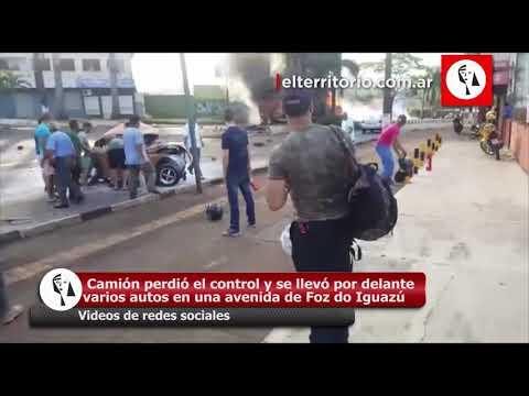Accidente fatal en Foz do Iguazu: un camión se quedó sin frenos