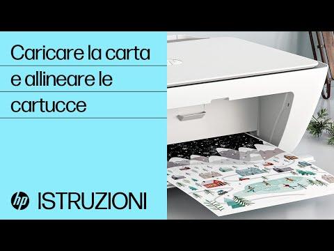 Come caricare la carta e allineare le cartucce nelle stampanti delle serie HP DeskJet 2700 e DeskJet Plus 4100