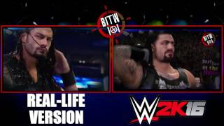 Roman Reigns Titantron 2015 HD *WWE 2K16 vs Real Life*
