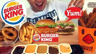 ASMR BURGER KING *SPICY* Crispy Chicken + Whopper | NO TALKING SATISFYING Eating Sounds MUKBANG 먹방
