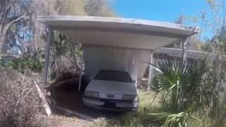 abandon house, pool, RV, ford taurus