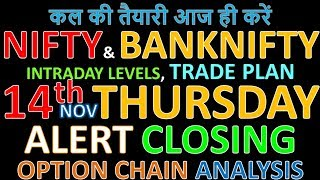 Bank Nifty & Nifty tomorrow 14th November 2019 Daily Chart Analysis SIMPLE ANALYSIS POWERFUL RESULTS
