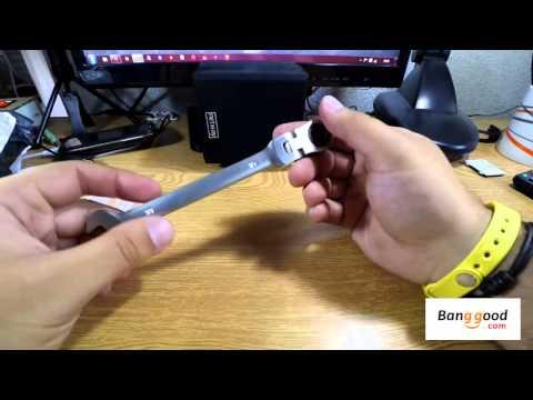 Llave 10mm cromo de trinquete acción cabezal flexible