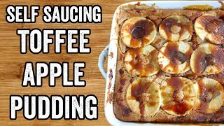 SELF SAUCING TOFFEE APPLE PUDDING