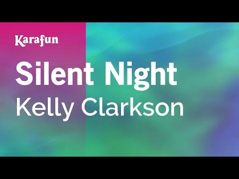 Silent Night - Kelly Clarkson | Karaoke Version | KaraFun
