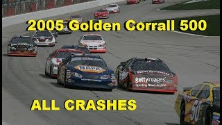 All NASCAR Crashes From The 2005 Golden Corrall 500