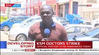 KMPDU Officials insists Kisumu doctors strike is still on