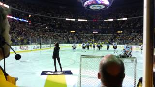 Angie Miller from American Idol singing National Anthem for NHL