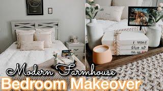 DIY MASTER BEDROOM MAKEOVER ON A BUDGET | Decorating Ideas | Modern Farmhouse Bedroom | Bedroom DIY