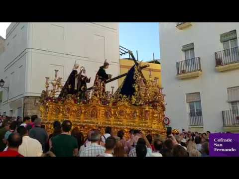 Los pasos de Huerto y Afligidos destacan en el Vía Crucis de Cádiz