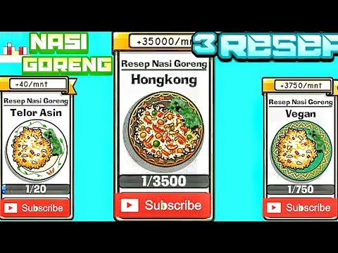 Video 3 Resep Terhakhir Nasi Goreng Telur Asin,Vegan Dan Hongkong|nasi goreng own game#4