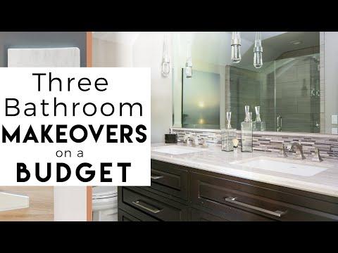 3 Bathroom Makeovers | Interior Design