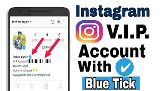 How to make instagram vip account | with blue tick✅
