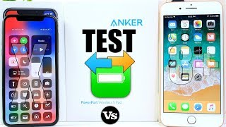iPhone X vs iPhone 8 Plus Battery Test & Anker Fast Wireless Charger Unboxing