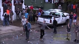 preview picture of video 'Pumpkin Fest 2014 Riots:  Police Ignore Massive Bottle Fight'