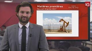 BRENT CRUDE OIL - Bourse - Cours du Pétrole Brut Brent, vif rebond à l'intérieur du range  - IG 18.01.2017
