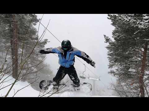 ДОМБАЙ  2019. Спуск на сноуборде.
