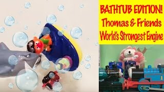 Thomas And Friends Minis Take A Bath - World's Strongest Engine, Toys For Kids