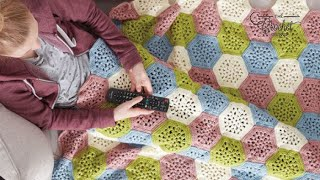 Crochet Hexagon Afghan Pattern - Cluster Version