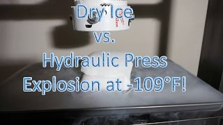 DRY ICE vs Hydraulic Press | EXPLOSIVE Results from Dry Ice Under Pressure-Wait till the end