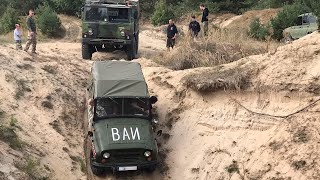 УАЗ 469 застрял Bergung Scania SBA 111 Rescue