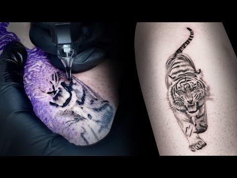 korean tattoo black and gray tattoo tiger by cindy tattoo