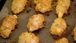 Котлеты или рулетики из индейки с сыром в панировке из чипсов