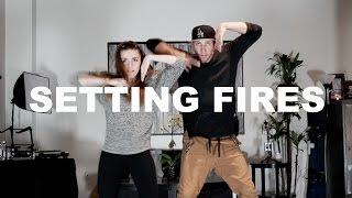 """SETTING FIRES"" - The Chainsmokers Dance | @MattSteffanina ft @Amymarieg"