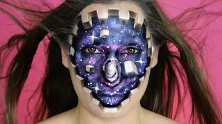 """Embrace Your Inner Beauty"" - Mimles Inspired Makeup Tutorial - Cubes and Galaxy"