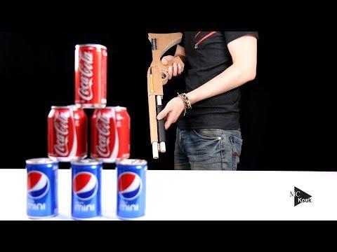 How To Make Shotgun(Mossberg) That Shoots Bullets. (Cardboard Gun)