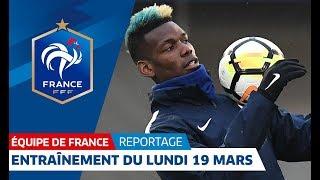 Paul Pogba et les Bleus étaient de retour sur les terrains du Centre National du Football à Clairefontaine (Yvelines) lundi à l'occasion du premier jour du rassemblement. Vendredi, l'Equipe de France accueillera la Colombie au Stade de France (21h, en direct sur TMC).  Plus d'infos sur: www.fff.fr -------------------------------------------------------------------------------------------- FFF : https://www.fff.fr Facebook : https://www.facebook.com/fff Twitter :  https://www.twitter.com/FFF Youtube :  http://www.youtube.com/c/FFF Dailymotion :  http://www.dailymotion.com/ffftv   EQUIPES DE FRANCE : https://www.fff.fr/equipes-de-france  Facebook :  https://www.facebook.com/equipedefrance Snapchat :  http://po.st/SnapchatEdF Twitter :  https://www.twitter.com/equipedefrance   Instagram :  https://www.instagram.com/equipedefrance  Vine :  https://vine.co/EquipeDeFrance Giphy :  https://giphy.com/equipedefrance   COUPE DE France : https://www.fff.fr/coupes  Facebook :  https://www.facebook.com/coupedefranc...  Twitter :  https://www.twitter.com/coupedefrance   CHAMPIONNAT NATIONAL : http://po.st/yTSGBt  Facebook : https://www.facebook.com/nationalFFF    CNF CLAIREFONTAINE :  http://www.cnf-clairefontaine.com  Facebook :  https://www.facebook.com/fff Twitter :  https://www.twitter.com/FFF --------------------------------------------------------------------------------------------  La Fédération Française de Football (F.F.F.) est une association loi de 1901 qui a pour mission: - d'organiser la pratique du football, sous toutes ses formes; - d'établir les règles techniques; - de délivrer les titres et gérer les sélections nationales; - de procéder à la délivrance des licences; - de définir et de mettre en œuvre un projet global de formation; - de défendre les intérêts du football français.