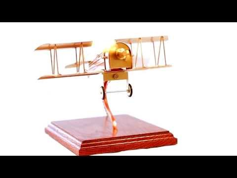 Solar Powered Bi-Plane Solarts Executive Gift Series