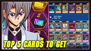 Yu-Gi-Oh! Duel Links: TOP 5 COMPETITIVE SR/UR TICKET CARDS TO GET! GX World Login Campaign!