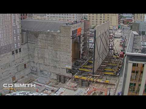 How a Massive Theater Brick Wall is Moved