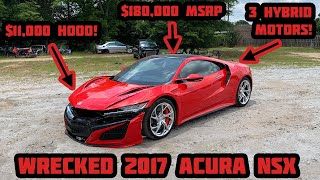 I Bought a WRECKED 2017 Acura NSX at Salvage Auction and Im Going to Rebuild It!
