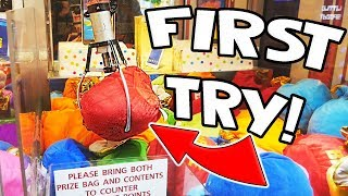 I WON A MYSTERY BAG FIRST TRY! || Lucky Leo's Arcade!