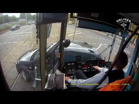 It's not easy to be a tram driver.