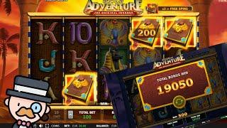 Book of Adventure Slot! Big Win - Super Win - Mega Win - Epic Win!